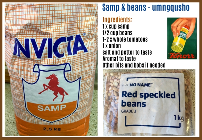 samp and beans ingredients