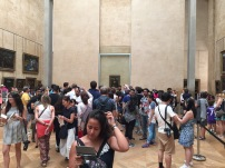I knew I'd got to the Mona Lisa because I couldn't get near her.