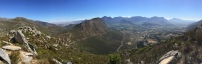 View from the Franschoek pass