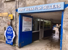 A visit to Port Isaac (aka Port Wenn) for the Doc Martin experience. Port Wenn TV signs still up when we arrived.