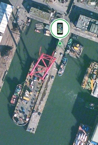 My colleague showed me how to track down my Hubby, using the 'Find my iPhone' app. There he is on the quayside near the new Queensferry Crossing (new Forth Bridge) in Edinburgh.