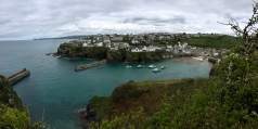 A walk up onto the cliffs affords a beautiful view of Port Isaac.