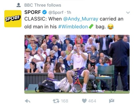 Follow the most hilarious tweets at #Wimbledon.