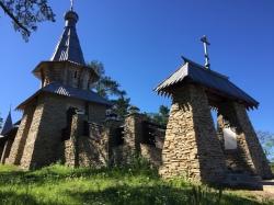 Chapel on lake Ladoga