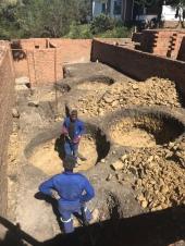 Getting ready to install 4 x 5000l rainwater tanks.