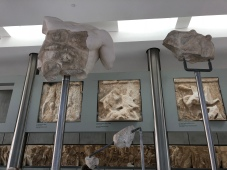 The Acropolis Museum - the chest sans torso which is in the British Museum.