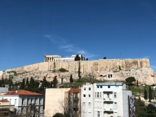 View of the Acropolis and Parthenon.
