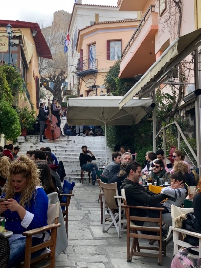 Plaka - lanes and alleys of outdoor dining.