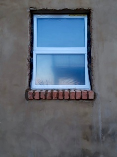 Windows going in.