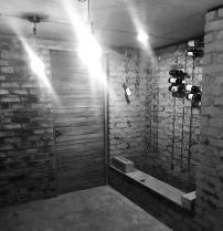 The wine cellar - not very full yet.