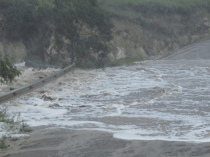 The link road between Morgan Bay and Kei Mouth washed away.