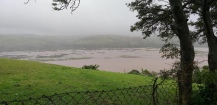 The Great Kei River and flood plains in flood.