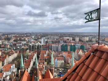 The view from the top of St Mary's Basilica - Gdansk, Poland