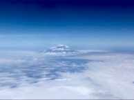 A glimpse of Kilimanjaro from our flight back to Johannesburg.