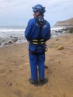 A contemplative Coast Guard.