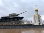 Tanks on display in Tiraspol