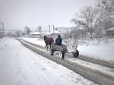 Cobani village in the snow.