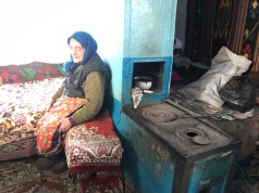 Every old home in the village has an indoor wood-burning stove for cooking and warmth.