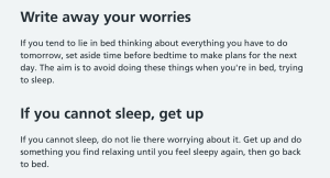 10 tips to beat insomnia NHS