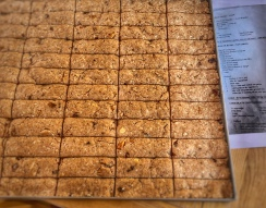 rusks cut and ready to bake