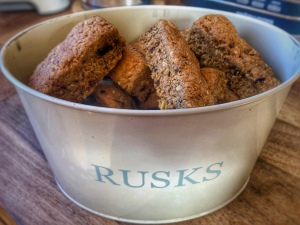 Health rusks in a tin