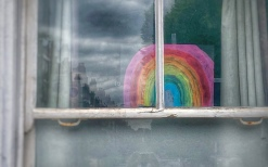 Rainbow in window