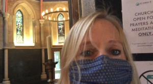 masked in church