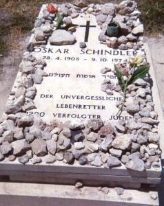 memorial stones on grave